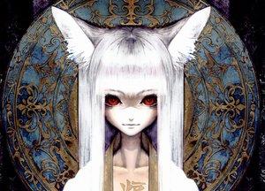 Rating: Safe Score: 214 Tags: animal_ears banpai_akira close foxgirl i.s.w. long_hair realistic red_eyes tagme white_hair User: Tiki
