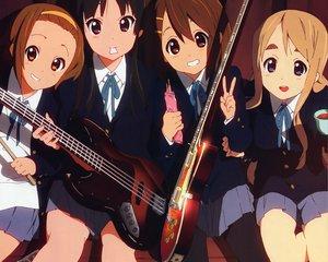 Rating: Safe Score: 16 Tags: akiyama_mio guitar hirasawa_yui instrument k-on! kotobuki_tsumugi tainaka_ritsu User: pantu