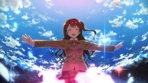 Rating: Safe Score: 162 Tags: bow clouds idolmaster idolmaster_cinderella_girls ponytail seifuku shimamura_uzuki sky yuuki_tatsuya User: Flandre93