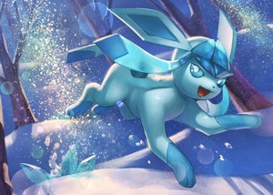 Rating: Safe Score: 23 Tags: forest glaceon night nobody pokemon snow supearibu tree User: otaku_emmy