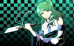Rating: Safe Score: 37 Tags: animal frog gayprince green_hair japanese_clothes kochiya_sanae miko snake touhou yellow_eyes User: opai