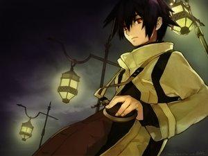 Rating: Safe Score: 36 Tags: black_hair dark red_eyes short_hair signed tagme_(artist) tagme_(character) User: Oyashiro-sama