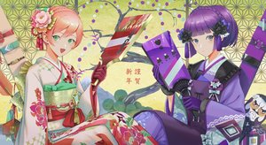 Rating: Safe Score: 26 Tags: 2girls anthropomorphism carcano_m1891_(girls_frontline) carcano_m91/38_(girls_frontline) girls_frontline japanese_clothes kimono makkuro short_hair User: Dreista