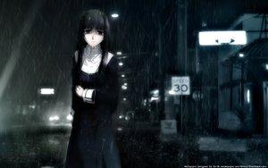 Rating: Safe Score: 116 Tags: asagami_fujino black_eyes black_hair dark kara_no_kyoukai nun rain signed water wet User: w7382001