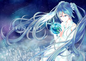 Rating: Safe Score: 63 Tags: blue_eyes blue_hair flowers hatsune_miku long_hair planet retsuna twintails vocaloid User: HawthorneKitty
