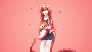 Rating: Safe Score: 171 Tags: animal animal_ears gradient long_hair miia_(monster_musume) monster_musume_no_iru_nichijou red_hair snake tail third-party_edit violet_(eightonemini) yellow_eyes User: Precursor
