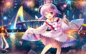 Rating: Safe Score: 69 Tags: anthropomorphism boat capura_lin fireworks japanese_clothes lolita_fashion pink_hair ponytail red_eyes sergestid_shrimp_in_tungkang waifu2x xuan_ying User: Zolxys