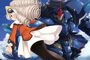 Rating: Safe Score: 40 Tags: clouds dress kouno_hikaru maria_balthasar mecha pantyhose xenogears User: opai