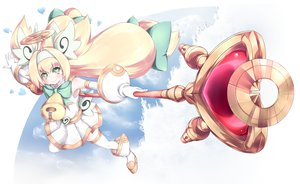 Rating: Safe Score: 56 Tags: blazblue blonde_hair green_eyes halo platinum_the_trinity wand User: PAIIS