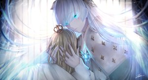 Rating: Safe Score: 52 Tags: anastasia_(fate/grand_order) aqua_eyes cape doll fate/grand_order fate_(series) long_hair signed tenyo0819 white_hair User: Nepcoheart