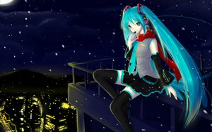 Rating: Safe Score: 42 Tags: 3d aqua_eyes aqua_hair hatsune_miku headphones thighhighs twintails vocaloid User: gnarf1975