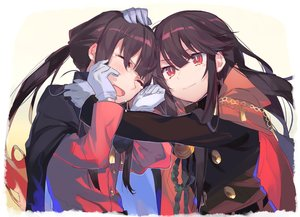 Rating: Safe Score: 38 Tags: blush brown_hair cape fate/grand_order fate_(series) gloves hug long_hair male muggle_123 nobukatsu_oda_(fate) nobunaga_oda_(fate) ponytail red_eyes tears waifu2x User: otaku_emmy