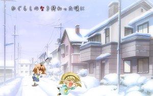 Rating: Safe Score: 17 Tags: blood higurashi_no_naku_koro_ni houjou_satoko knife ryuuguu_rena winter User: Oyashiro-sama