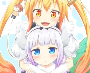 Rating: Safe Score: 60 Tags: 2girls close cropped horns kamui_kanna kobayashi-san_chi_no_maid_dragon loli tagme_(artist) tooru_(maidragon) User: luckyluna