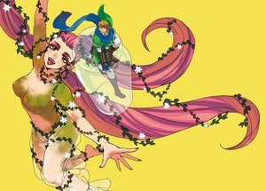Rating: Safe Score: 8 Tags: blonde_hair boots breasts gloves great_fairy hat link_(zelda) long_hair male pink_hair pointed_ears scarf short_hair the_legend_of_zelda yellow yo_mo User: otaku_emmy