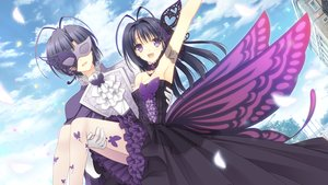 Rating: Safe Score: 129 Tags: breasts butterfly cleavage clouds dress game_cg long_hair male mask navel_(company) ookura_resona ookura_yuusei otome_riron_to_sono_shuuhen:_ecole_de_paris pantyhose purple_eyes sky suzuhira_hiro tsuki_ni_yorisou_otome_no_sahou wings User: Wiresetc