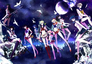 Rating: Safe Score: 72 Tags: aino_minako animal bird black_eyes black_hair blonde_hair blue_eyes blue_hair boots chibiusa gloves green_eyes green_hair group hino_rei kaiou_michiru kino_makoto long_hair meiou_setsuna mizuno_ami moon nako_(nonrain) petals pink_eyes pink_hair ponytail purple_eyes ribbons sailor_chibi_moon sailor_jupiter sailor_mars sailor_mercury sailor_moon sailor_moon_(character) sailor_neptune sailor_pluto sailor_saturn sailor_uranus sailor_venus short_hair sky staff stars tenou_haruka tomoe_hotaru tsukino_usagi twintails User: Tensa