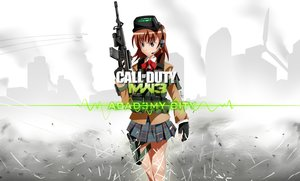 Rating: Safe Score: 83 Tags: bow brown_eyes brown_hair call_of_duty crossover gloves goggles gun headphones logo misaka_imouto school_uniform signed skirt ssgt-lulz to_aru_kagaku_no_railgun to_aru_majutsu_no_index weapon User: Stealthbird97