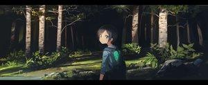 Rating: Safe Score: 138 Tags: astg black_hair blue_eyes dark dualscreen forest kurosaki_honoka short_hair tree yama_no_susume User: Flandre93