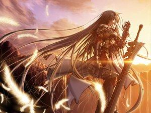 Rating: Safe Score: 405 Tags: feathers primitive_link sione sword tsukimori_hiro weapon User: Oyashiro-sama