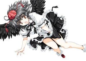 Rating: Safe Score: 83 Tags: shameimaru_aya tagme tamiya_akito touhou wings User: opai