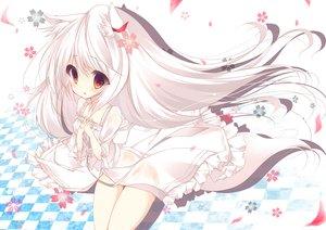 Rating: Safe Score: 124 Tags: animal_ears long_hair original umi_no_mizu white_hair User: Wiresetc