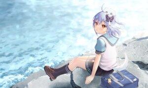 Rating: Safe Score: 60 Tags: aliasing all_male blue_hair blush bow inuyama_tamaki kneehighs male momoshiki_tsubaki noripro orange_eyes otoko_no_ko ponytail school_uniform skirt tail water User: otaku_emmy