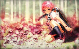 Rating: Safe Score: 70 Tags: boots houjou_kuniko pink pink_eyes pink_hair school_uniform shangri-la short_hair vector weapon wristwear User: Soul