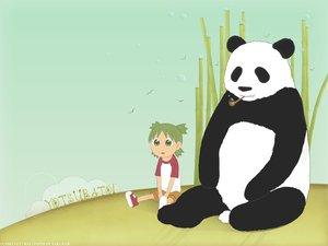 Rating: Safe Score: 6 Tags: animal bear koiwai_yotsuba panda yotsubato! User: connardman