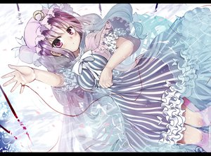 Rating: Safe Score: 55 Tags: dress hat long_hair mondo patchouli_knowledge purple_eyes purple_hair touhou water User: Katsumi
