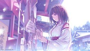 Rating: Safe Score: 128 Tags: japanese_clothes mana_kakkowarai miko original snow waifu2x User: mattiasc02