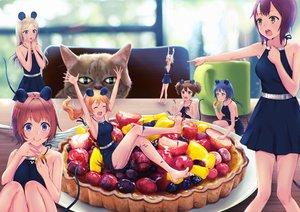 Rating: Safe Score: 99 Tags: animal animal_ears cat deca_purio food fruit group long_hair mousegirl original short_hair User: luckyluna