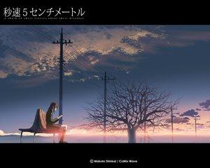 Rating: Safe Score: 28 Tags: brown_hair byousoku_5_centimetre clouds jpeg_artifacts kneehighs scenic shinkai_makoto shinohara_akari short_hair sky tree User: Oyashiro-sama