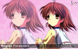 Rating: Safe Score: 8 Tags: brown_eyes brown_hair clannad furukawa_nagisa key logo seifuku short_hair zoom_layer User: Oyashiro-sama