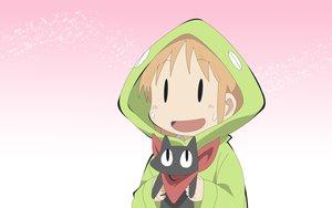 Rating: Safe Score: 55 Tags: animal cat hakase_(nichijou) nichijou sakamoto_(nichijou) User: Mazinger
