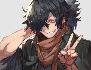 Rating: Safe Score: 19 Tags: all_male black_hair brown_eyes close fate/grand_order fate_(series) lack male okada_izou_(fate) ponytail scarf User: otaku_emmy