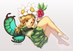 Rating: Safe Score: 28 Tags: blonde_hair braids brown_eyes fairy flowers food fruit headdress loli magma_chipmunk mercedes odin_sphere pointed_ears signed twintails wings User: FormX