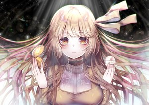 Rating: Safe Score: 150 Tags: blonde_hair bow breasts buta_tamako close long_hair original ribbons yellow_eyes User: BattlequeenYume