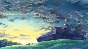 Rating: Safe Score: 71 Tags: brown_hair clouds girls_und_panzer kasei_(xyz) nishizumi_miho sky User: FormX