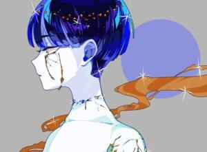 Rating: Safe Score: 40 Tags: anthropomorphism blue_eyes close gray hanasaki_coa houseki_no_kuni phosphophyllite short_hair tears topless User: otaku_emmy