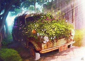 Rating: Safe Score: 34 Tags: animal bird car flowers grass leaves mocha_(cotton) nobody original realistic ruins scenic shade signed tree User: otaku_emmy