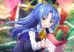 Rating: Safe Score: 50 Tags: blue_hair blush christmas green_eyes long_hair masayo_(gin_no_ame) original ponytail tree uniform User: BattlequeenYume