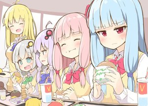 Rating: Safe Score: 21 Tags: aliasing blonde_hair blue_hair blush bow drink food gray_hair group kizuna_akari kotonoha_akane kotonoha_aoi long_hair ominaeshi pink_eyes pink_hair seifuku sketch tsurumaki_maki twins twintails vocaloid voiceroid yuzuki_yukari User: otaku_emmy