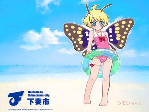 Rating: Safe Score: 24 Tags: loli shimon swim_ring swimsuit wings User: Oyashiro-sama