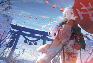 Rating: Safe Score: 64 Tags: japanese_clothes kimono long_hair original oyuyu torii umbrella User: Dreista
