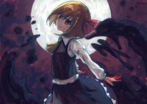 Rating: Safe Score: 27 Tags: bellabow blood brown_hair moon red_eyes rumia short_hair skirt touhou User: RyuZU