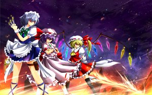 Rating: Safe Score: 27 Tags: dress flandre_scarlet hat izayoi_sakuya nekominase red_eyes remilia_scarlet touhou vampire weapon wings User: opai