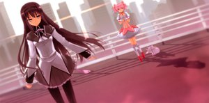 Rating: Safe Score: 20 Tags: 2girls akemi_homura black_hair dress gloves kaname_madoka kneehighs kyuubee long_hair mahou_shoujo_madoka_magica pantyhose pink_eyes pink_hair prime ribbons seifuku short_hair skirt User: RyuZU
