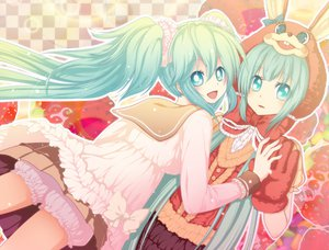 Rating: Safe Score: 24 Tags: hatsune_miku lots_of_laugh_(vocaloid) twintails vocaloid User: mikulover
