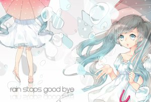 Rating: Safe Score: 33 Tags: dress hatsune_miku he_ji_(ryou) umbrella vocaloid User: FormX